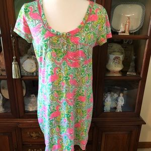Lilly Pulitzer Dress Flamingo Size M